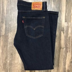 Levi 511 Dark Wash Blue Jeans 36 x 29